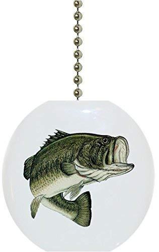 Largemouth Bass Fish Solid Ceramic Fan Pull