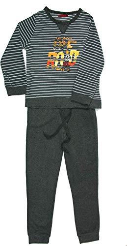 Pijama Hombre Largo Gris Térmico Polar (Lines, M