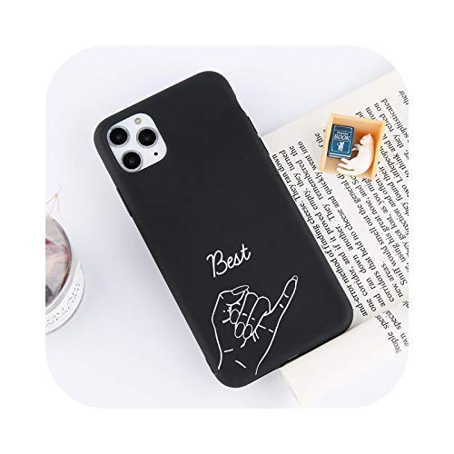 KASHINO Funny Couples Love Heart Case For iPhone 12 Mini 11Pro Max X XS XR Xs Max Soft TPU Simple Cover Para iPhone 6 6S 7 8 Plus-T3-For iPhone 8