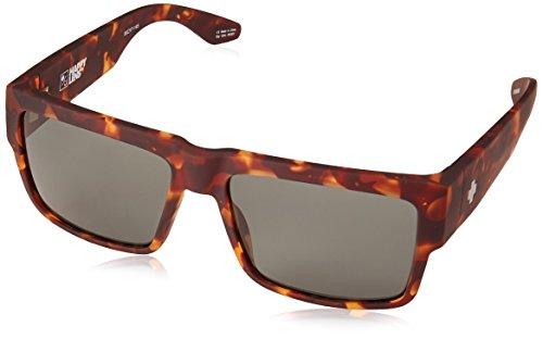 Spy Optic Cyrus Sunglasses, Soft Matte Camo Tort/Happy Gray/Green, 1.5 mm