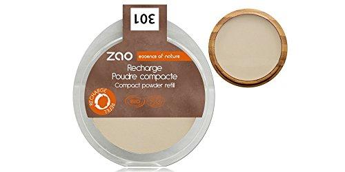 ZAO REFILL Compact Powder 301 elfenbein hell Kompaktpuder-Nachfüller (bio, Ecocert, Cosmebio,...