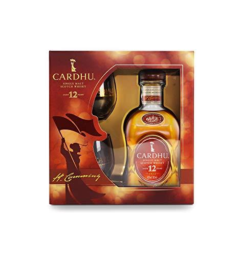 Cardhu Single Malt Scotch Whisky 12Yo + 2 Bicchieri. Confezione Regalo - 700 ml