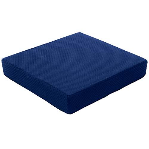 """Carex Memory Foam Seat Cushion - Office Chair Cushion and Wheelchair Cushion - Comfortable Chair Pad, 18"""" x 16"""" x 3"""""""