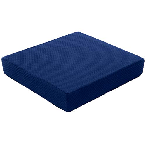 Carex Memory Foam Seat Cushion - Office Chair Cushion and Wheelchair Cushion - Comfortable Chair Pad, 18