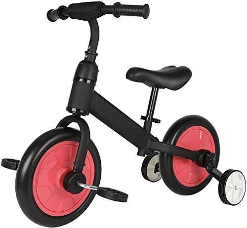 Bicicleta de equilibrio cómoda, 2 en 1 para niños con asiento ajustable Pe'dal y manillar para niños de 3 a 6 años (color : C) JoinBuy.R