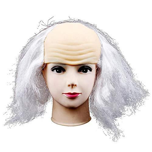 Pelucas Peluca Calva Bromas Divertida Gorra Calva Peluca Cabeza Máscara Pelucas de Látex for Disfraces de Halloween Accesorios de Fiesta Mascarada Pelucas: Amazon.es: Hogar