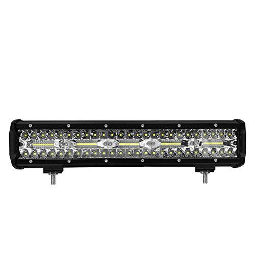 Bande lumineuse à LED, 15 '' 300W 12v 30000lm lumière auxiliaire de travail phare pour camion chariot élévateur 1PCS