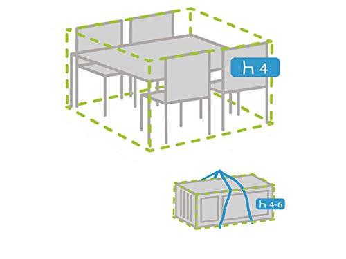 Housse de protection résistante aux intempéries pour meubles de jardin 245 x 150 cm + housse pour 4-6 coussins