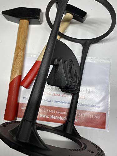 AdoroSol Vertriebs GmbH Kindling Cracker S mit 2 Hammer 1500 Gramm 600 Gramm original Holzspalter gusseisen schwarz