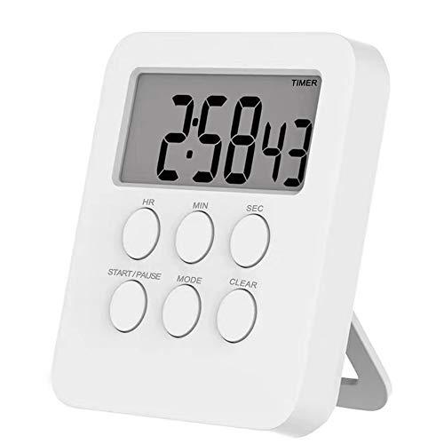 Mopoin Temporizador de cocina digital magnético, temporizador de cocina con pantalla LCD para cocinar, hornear, hacer deporte, estudiar