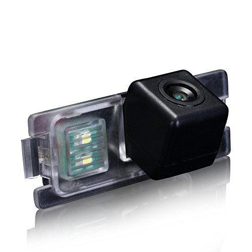 Dynavsal Caméra de recul voiture IP67 étanche couleur haute définition grand angle de visionnement avec plaque d'immatriculation vision nocturne pour S60 S80 V70 (but S40L S40 V40 V50 S60L V60 XC60 C70 XC70 S80L XC90 (Modèle V7896XJT Caméra de recul Avec un trou de vis)