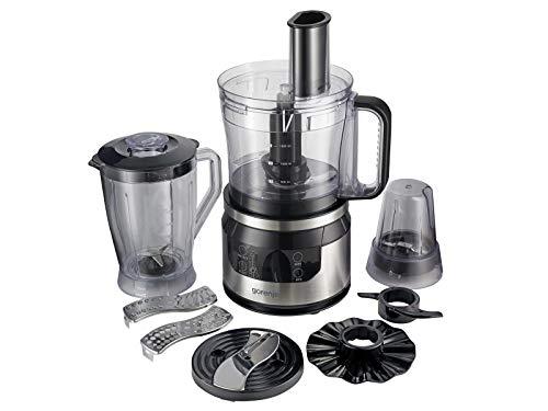 Gorenje SBR800HC Küchenmaschine mit Mixaufsatz und Kaffeemühle - 800 Watt - Edelstahl / Schwarz