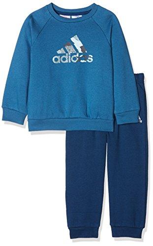 adidas Kinder Trainingsanzug Badge Of Sport Jogginganzug, Corblu/Easblu, 80, CE9505