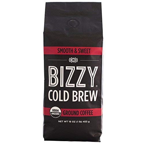Bizzy Organic Cold Brew Coffee | Smooth & Sweet Blend | Coarse Ground Coffee | 1 LB