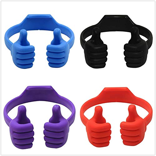 4 Packs Thumbs Up Cell Phone Holder, Universal Flexible Thumb Smart Phone Stand Holder for Tablets Smart Phones