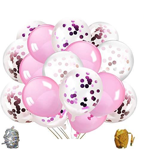 Qipop Oro Rosa coriandoli Palloncini Party Balloon per Matrimonio, Compleanno, Baby Shower, Laurea, Cerimonia Party Decorazioni(52 Pezzi)