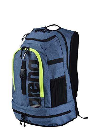 ARENA Fastpack 2.2 Grande Zaino Sportivo, Zaino da Viaggio, Palestra, Piscina e Tempo Libero, Zaino da Mare con Sacca da Nuoto per Indumenti Bagnati e Fondo Rinforzato, 40 L, Blu