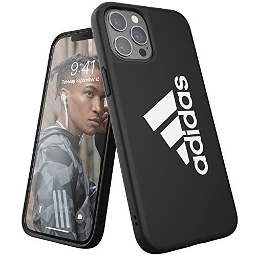 adidas Funda diseñada para iPhone 12 Pro MAX 6.7, Sports Iconic, Fundas a Prueba de caídas, Bordes elevados, Color Negro