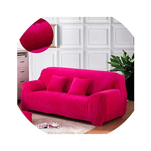 hotmoment-uk - Copridivano elastico per soggiorno, in velluto, a prova di polvere, per animali domestici, tutto incluso, colore: rosso rosa, 1 posto 90-140 cm