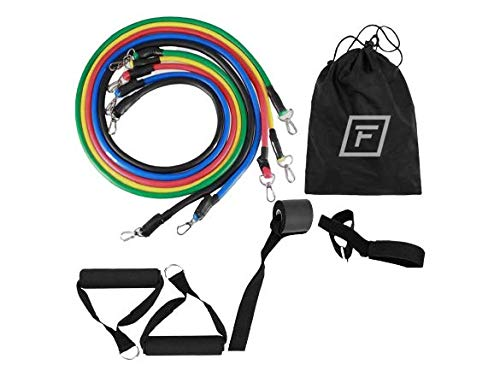 FitBand Pro Resistance Bands Widerstandsbänder mit Griffen Widerstandsbänder-Set Fitnessbänder Expander Tubes mit Griffen, Türanker und Fußschlaufen Indoor & Outdoor