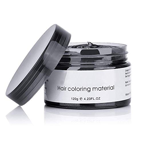NYKKOLA 2020 Hair Wax Dye Styling Cream Mud, Natural Hairstyle Color Pomade, Washable Temporary Modeling DIY Hair Color Dyes, Party Cosplay (Black)