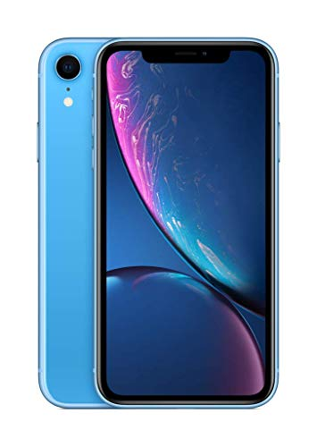 Apple iPhone XR (128GB) - Azul (incluye Earpods, adaptador de corriente)