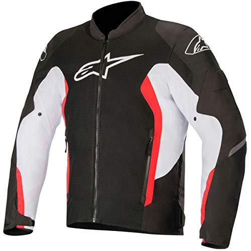 Alpinestars Men's Viper V2 Air Motorcycle Jacket, Black/White/Red, 2X-Large