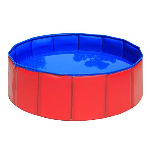 Goodtimera - Piscina de perro plegable de PVC para perros y gatos, piscina de juguete para niños