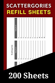Scattergories Refill Sheets  200 Scattergories Board Game Refills Pad  Extra Answer Pad Refills for Scattergories