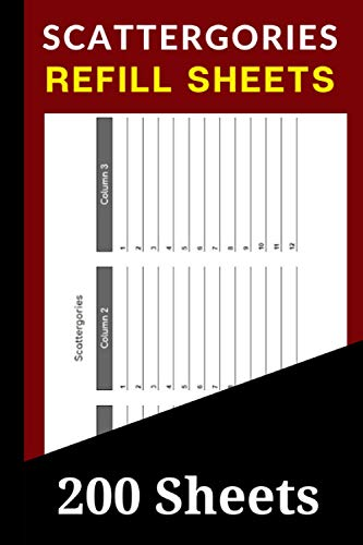 Scattergories Refill Sheets: 200 Scattergories Board Game Re