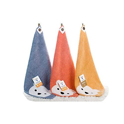 TENDUAGEN Lot de 3 Petites Serviettes en Coton 30 x 30 cm - Serviettes Multi-usages Extra-Douces pour Les Doigts, avec lanière