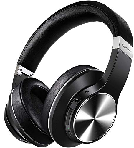Hybrid Active Noise Cancelling Headphones, VANKYO C751 Over Ear Wireless Bluetooth Headphone with CVC 8.0 Mic, Deep Bass, Hi-Fi Sound, Comfortable Protein Earpads, 30H Playtime for TV, PC, Cellphone