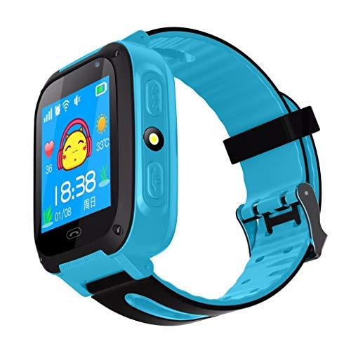 Bearbelly Smartwatch para niños, batería de Gran Capacidad, Linterna, Toque con cámara, Pulsera Inteligente con Bluetooth para Actividades Deportivas, Compatible con iOS y Android