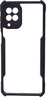 Back Cover For Samsung Galaxy M62 - Clear & Black