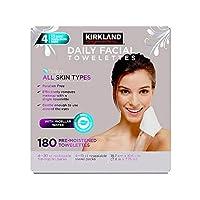 KIRKLAND SIGNATURE Daily Facial Towellettes, 4.53 Pound (180, Boxes), 2 Count