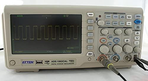 JINKEBIN Osciloscopio Atten ADS1062Cal Almacenamiento Digital osciloscopio 60MHZ 7