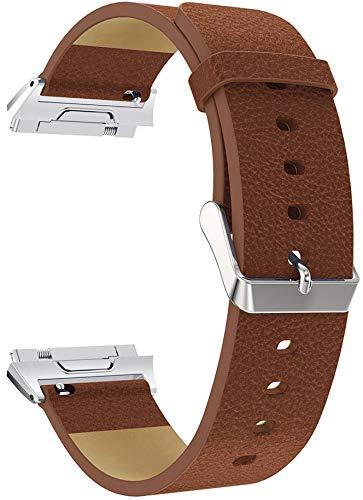 Classicase Piel Correa de Reloj Compatible con Fitbit Ionic, Correa/Banda/Pulsera/Recambio/Reemplazo/Strap de Reloj (Pattern 2)