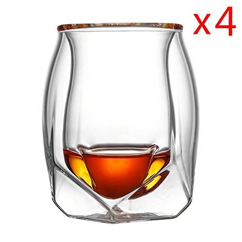 7°MR Bierkrug 4 Teilelos Großbritannien Glen Norlan Whisky Rock Glas Double Deck Whisky Wein Tasse XO Chivas Brandy Snifer Der Whiskybecher