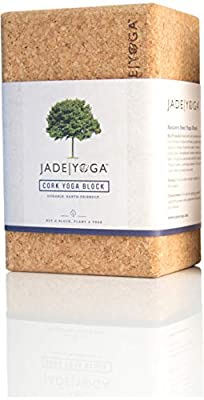 "Jade Yoga - Cork Block - Extreme Comfort, Strength, and Stability for Your Yoga Practice (Size Large: 4"" x 6"" x 9"")"