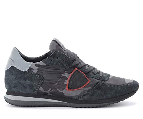 Philippe Model Sneaker Tropez X In Camoscio E Tessuto Camouflage