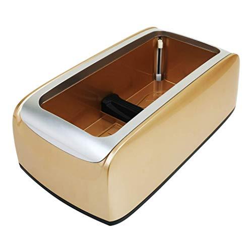 SFSGH Dispensador automático de Fundas de Zapatos, máquina dispensadora de Protectores de alfombras con 100 Fundas de Zapatos Desechables para Uso médico, hogar, Tienda y Oficina, Dorado