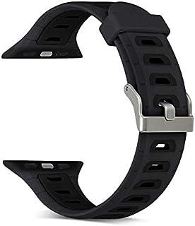 Silikon Klockarmband Apple Watch, 38mm, Svart