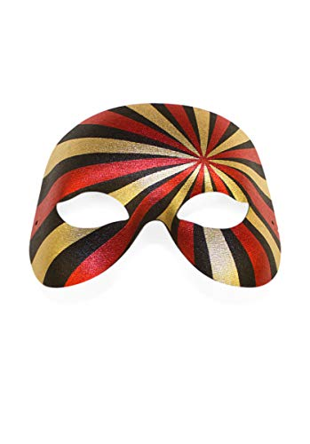 Masquerade Eyemask - Gold/Red