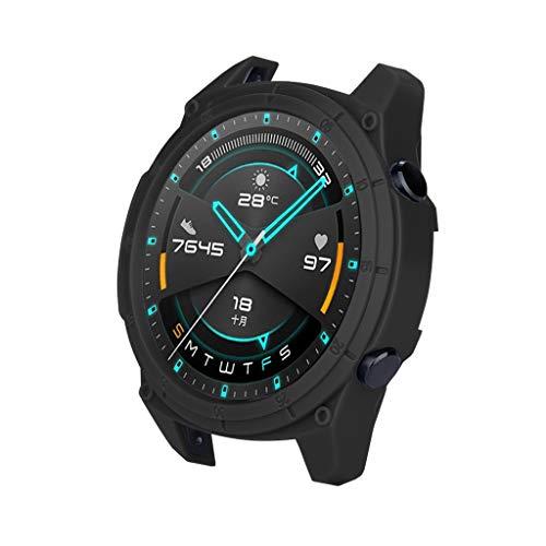 Schutz Hard PC-Gehäuse Ultra dünn Kratzfest Gehäuseabdeckung beobachten kompletter Schutz Schutzrahmen Kompatibel mit Huawei Watch GT 46mm / GT 2 46mm