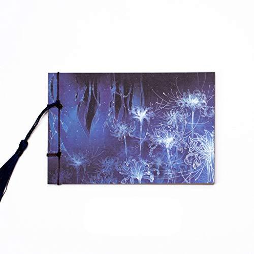 Cuadernos de diario en blanco de papel rayado plan Cuaderno de la antigüedad Retro Vintage Kraft En blanco Página for colorear Libro Libro Clásico Chino Línea de viento Diario Paquete de trabajo escol