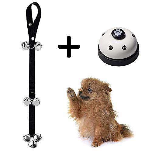 YSYDE verstelbare hondendeurbel en drukknop voor verschillende maten hond toilet training bel interactie bel kat bel nylon en staal materiaal voor huisvesting en outdoor training