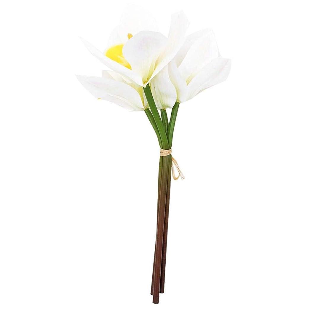 気楽なベルト慈善蘭バンチ 造花 枯れない花 シルクフラワー 4本 インテリア シルク製造花 ギフト プレゼント 写真用 撮影用 家飾り 店飾り 結婚式飾り パーティー飾り 事務所飾り などの場所に適用