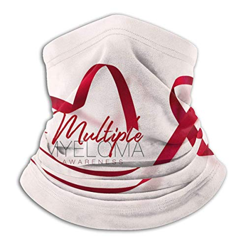 XXUU Conciencia del mieloma Borgoña cinta cuello bufanda caliente, mascarilla, pañuelo en la cabeza