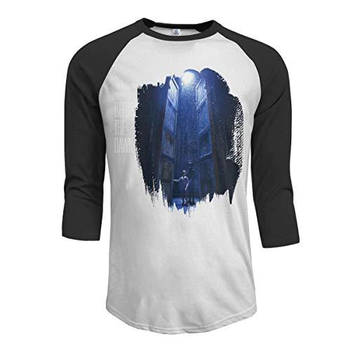 KDHRTI Herren Kurzarmshirt, Gin Wigmore Holy Smoke Men's 3/4 Sleeve Raglan Baseball T-Shirt Black