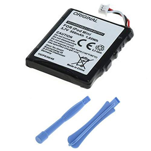 subtel®Batterij compatibel met Apple iPod mini 1 Gen. iPod mini 2 Gen. A1051, EC003,EC007 500mAh + Schroevendraaier-set Vervangende Accu Battery